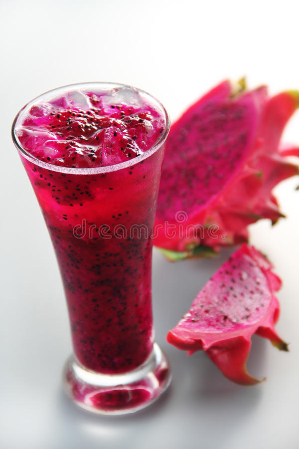 Jus de fruit de dragon images libres de droits