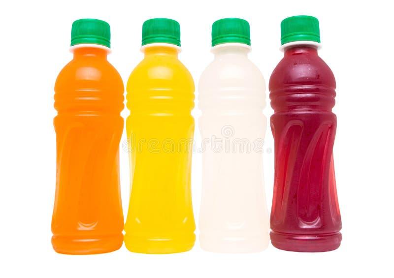 Jus de fruit mis en bouteille effrayants photo stock