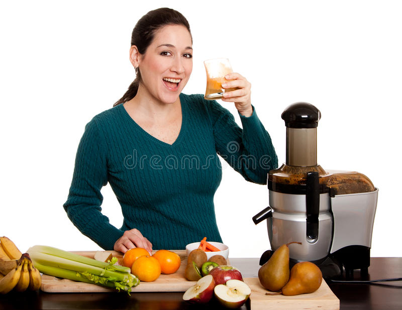 Jus de fruit organique frais serré photos stock