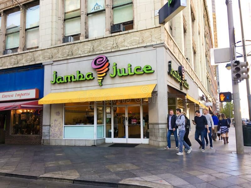 Jus de Jamba à Denver, le Colorado photo libre de droits