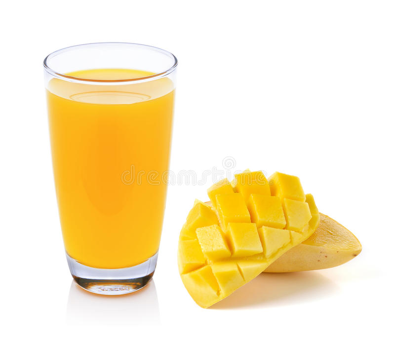 Jus de mangue et mangue images stock