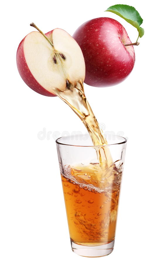 Jus de pomme frais. image libre de droits