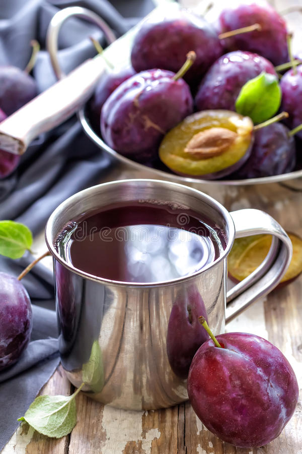 Jus de prune photos stock