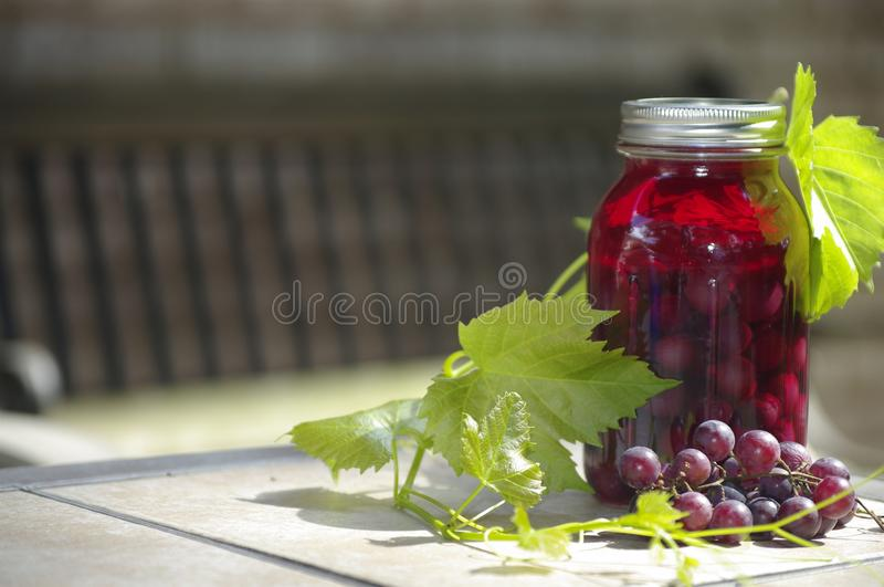 Jus de raisins photo stock