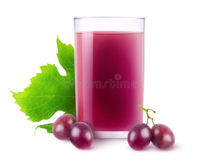 Jus de raisins d'isolement photo libre de droits