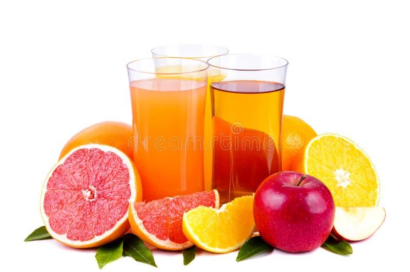 jus et fruits photographie stock