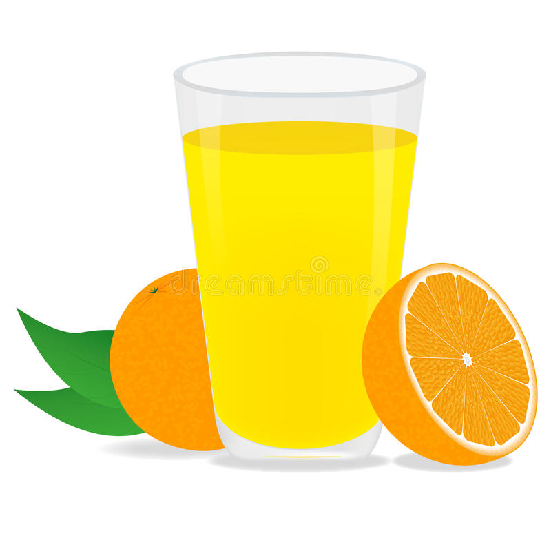 Jus et oranges d'orange illustration stock