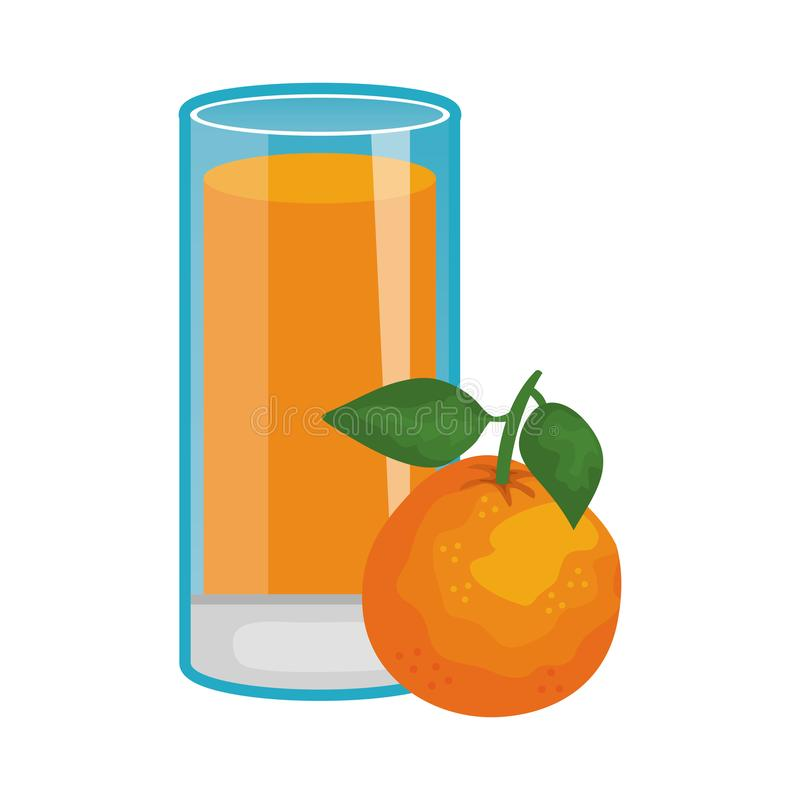 Jus orange de fruit frais illustration de vecteur