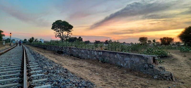Jus-Sonnenuntergänge stockfotos