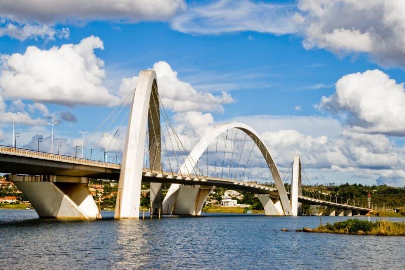 Juscelino Kubitschek Brücke lizenzfreie stockfotografie