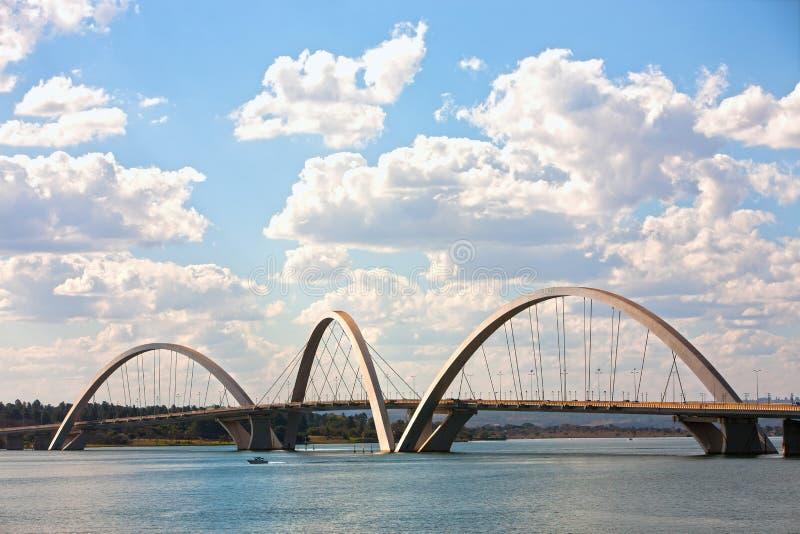Juscelino Kubitschek Brücke in Brasilien Brasilien lizenzfreies stockbild