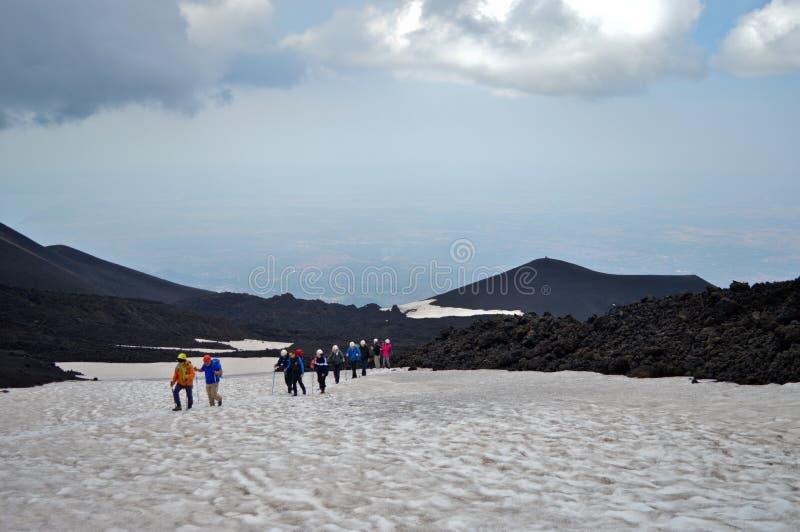 Jusqu'au dessus du volcan photos libres de droits