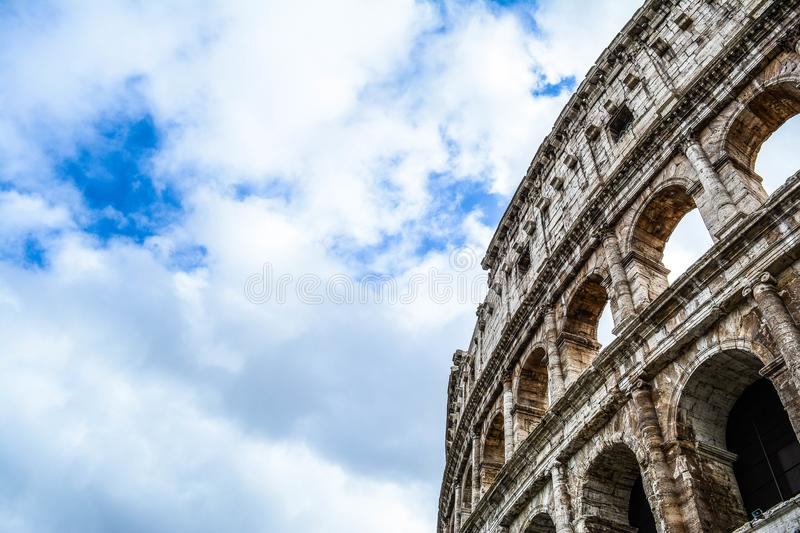 The Historic Colosseum of Rome stock images