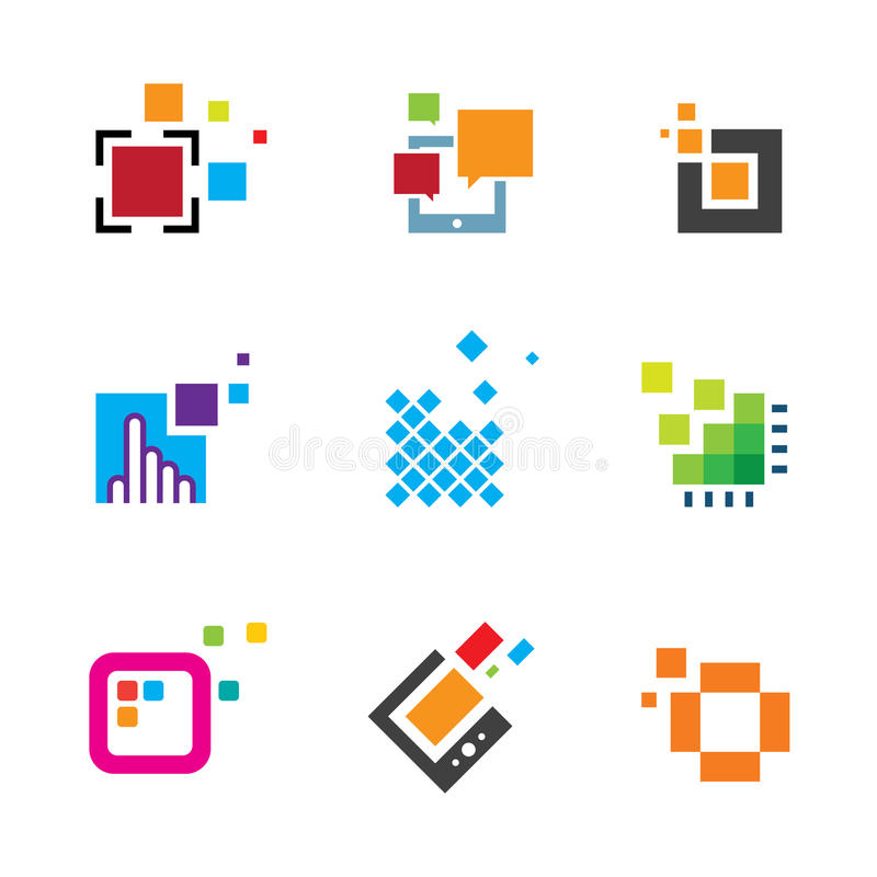 Just be creative abstract colorful design geometric logo polygon cube icon. Enjoy vector illustration