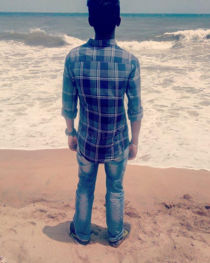 Just Beach. Relax peace mindfullness stock photography
