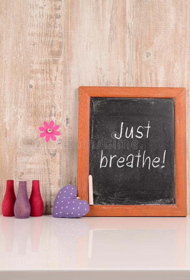 Just breathe! stock images