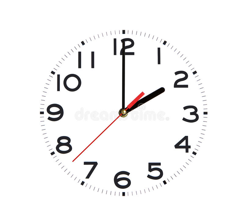 Download Just a clock stock image. Image of isolated, hour, white - 10405377