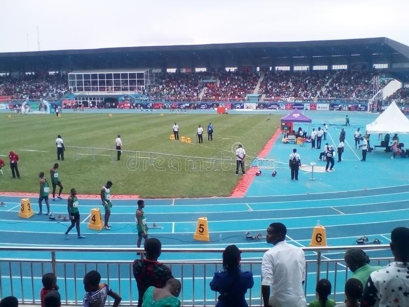 Asaba2018 stadium. The just concluded African senior athletics competition in delta state, Nigeria stock photos