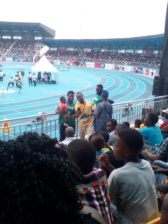 Asaba2018 stadium. The just concluded African senior athletics competition in delta state, Nigeria stock images