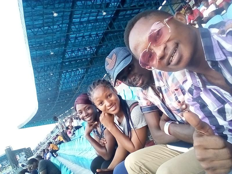 #Asaba2018 stadium. The just concluded African senior athletics competition in delta state, Nigeria stock image