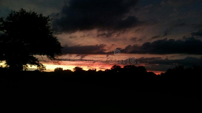 Just before dawn. In Syracuse NE royalty free stock photography