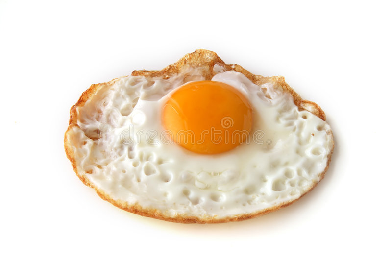 Just fried egg stock photography