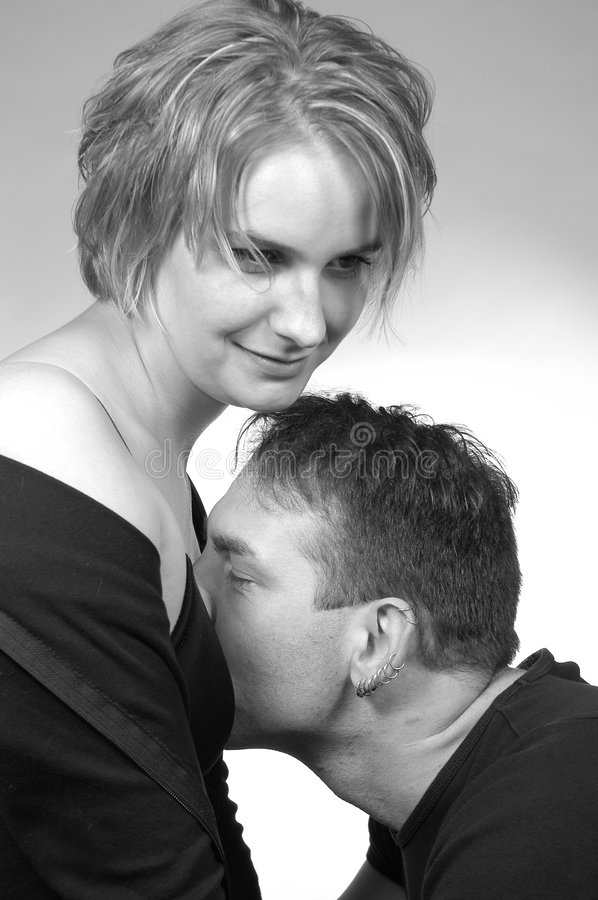 Download Just a little kiss stock image. Image of isolate, enjoy - 272639