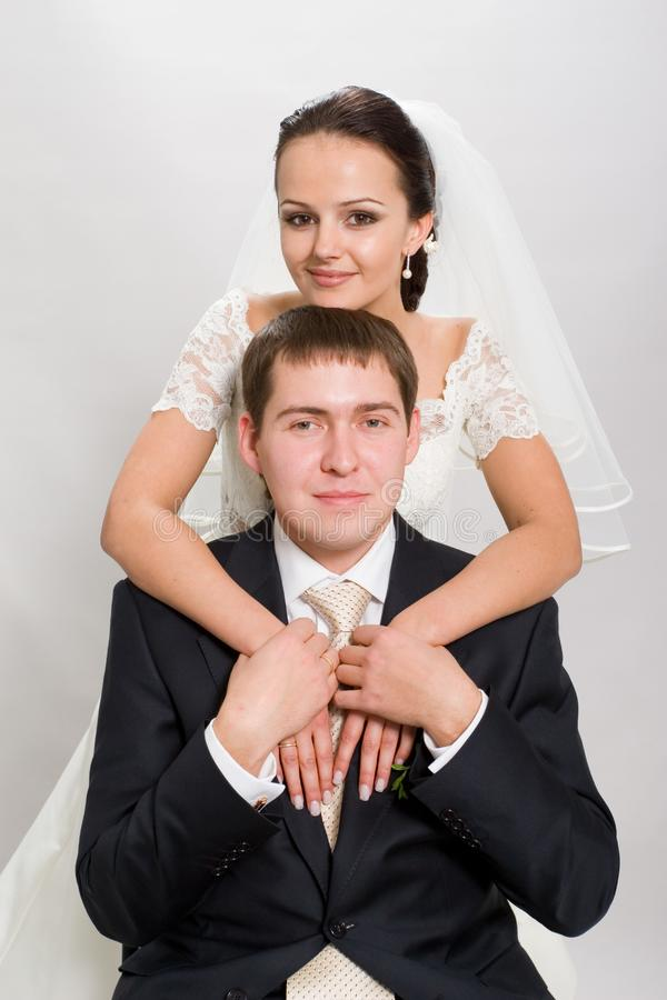 Just married. royalty free stock image