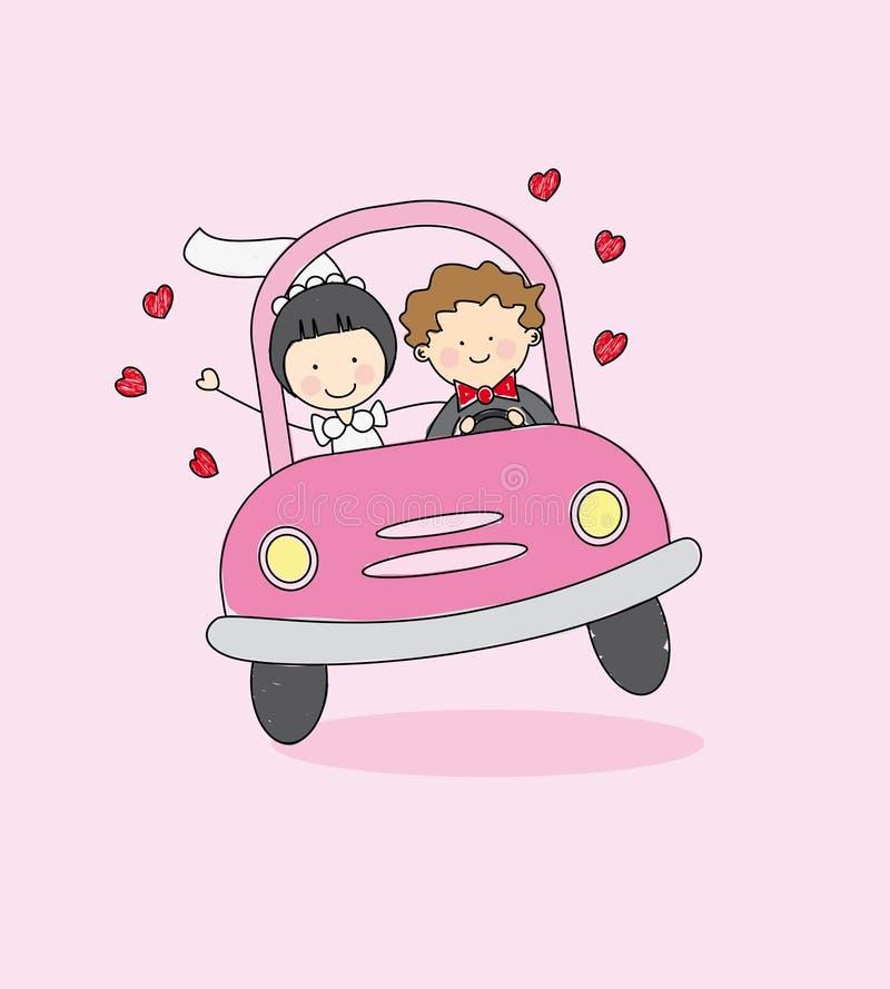 Download Just married stock vector. Image of marriage, crash, honeymoon - 21158486