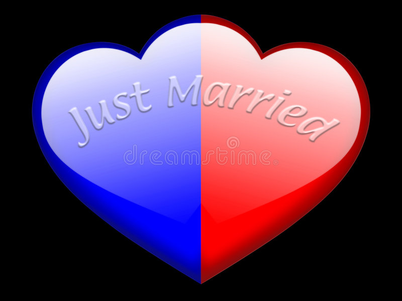 Just married stock illustration