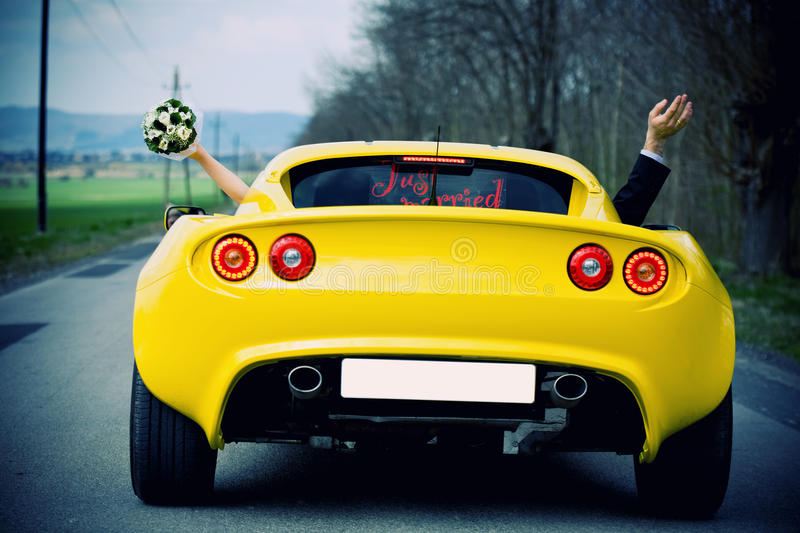 Download Just married stock image. Image of convertible, concept - 23157393