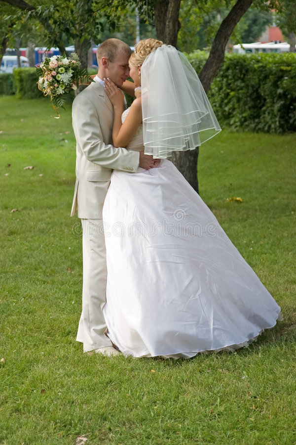 Just married. stock photography