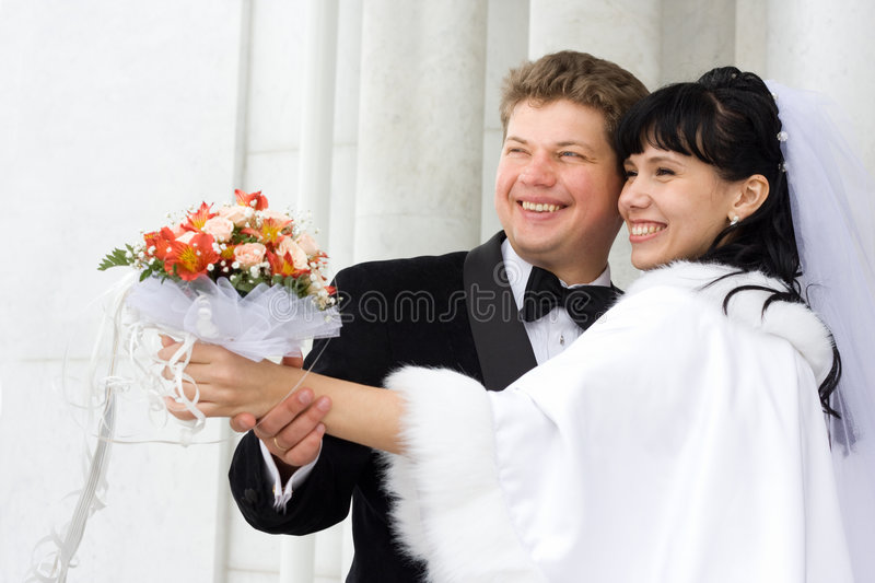 Just married stock photography