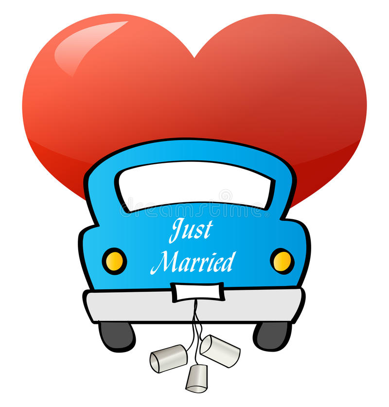Just Married - Car Royalty Free Stock Photography