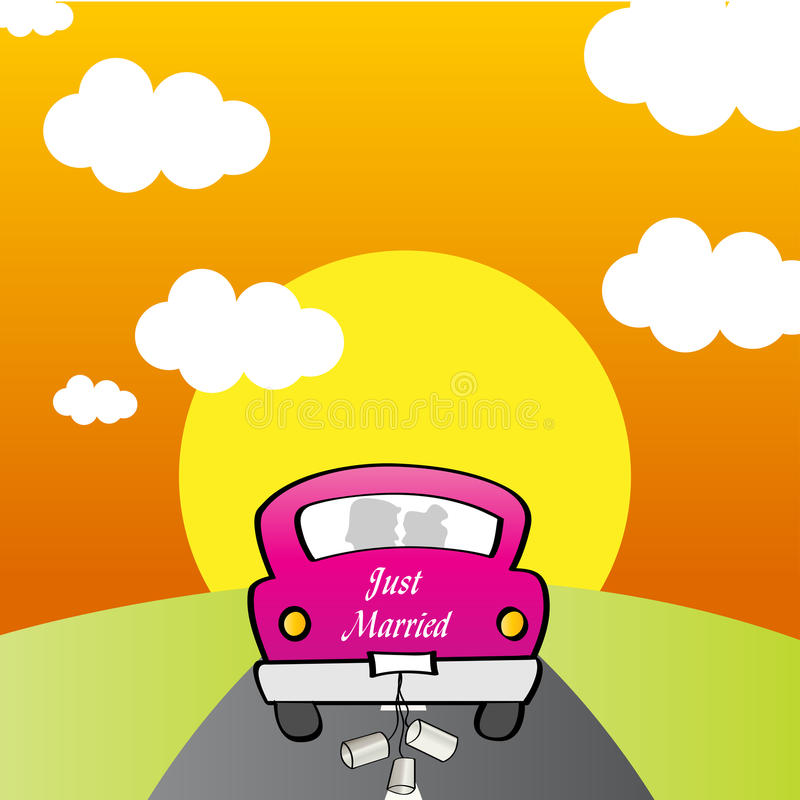 Download Just Married - Car stock vector. Image of congratulations - 22965441