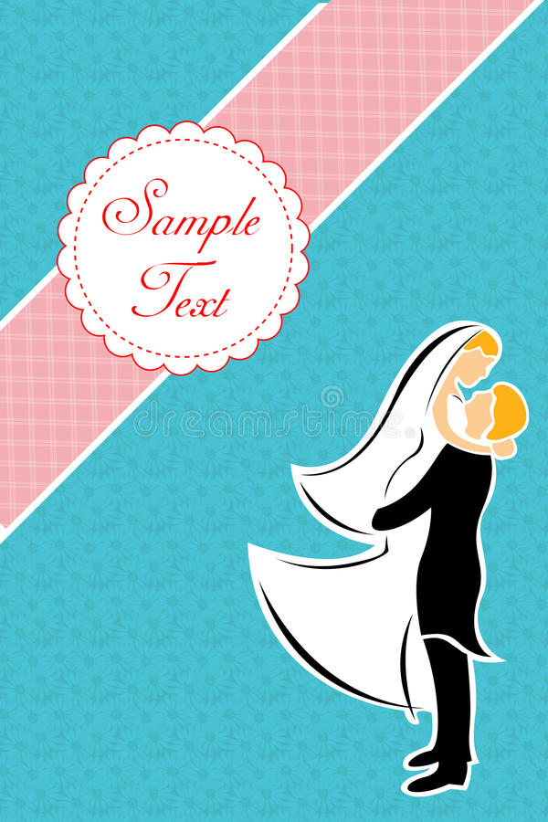 Download Just married couple stock illustration. Image of husband - 16716210
