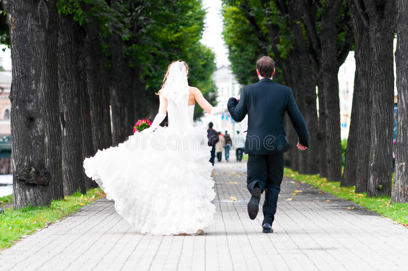 Download Just married couple stock image. Image of marriage, dress - 18879529