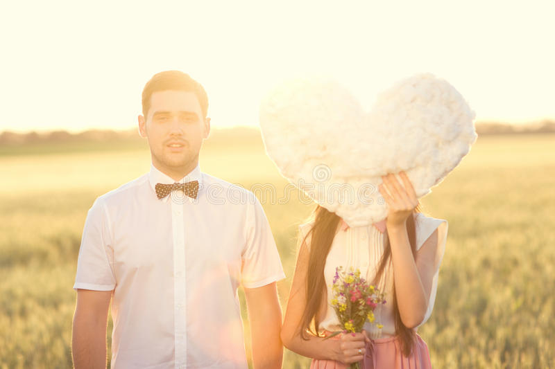 Just married couple stock image