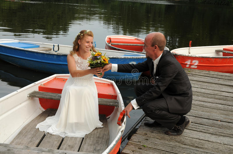 Just married royalty free stock photos