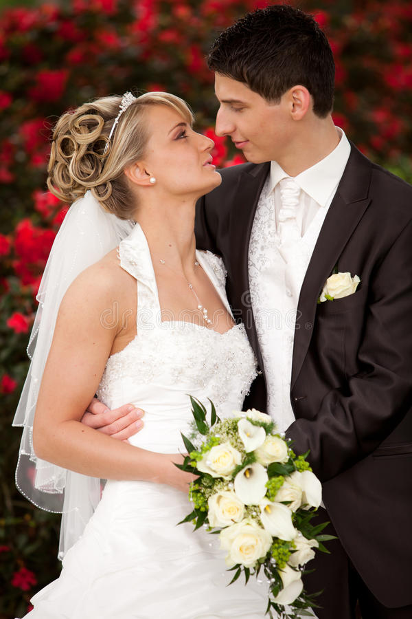 Download Just Married Couple Wants Kisses Stock Photo - Image: 25131080