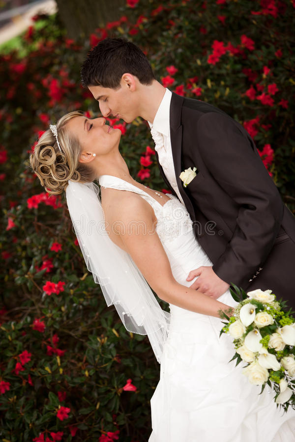 Download Just Married Couple Wants Kisses Stock Photo - Image: 25131214