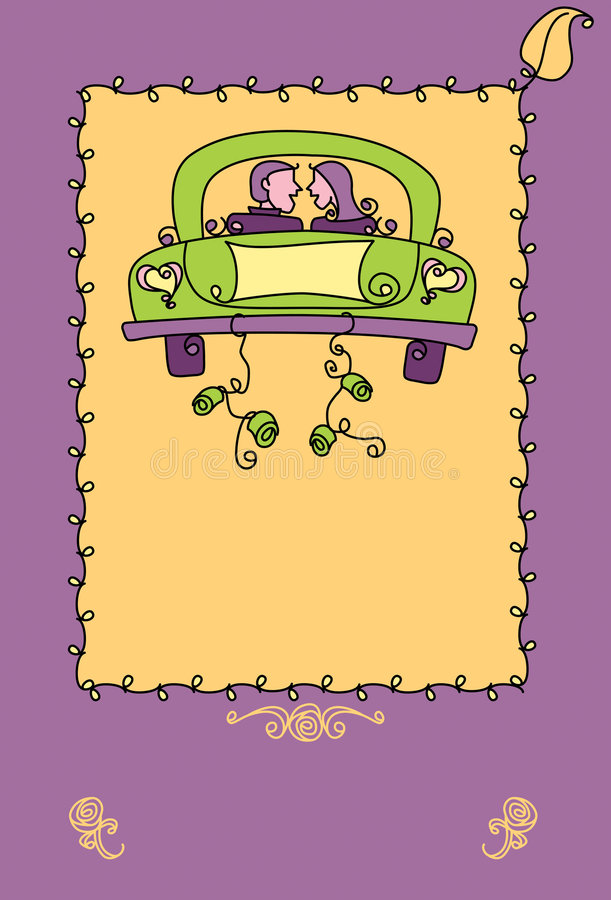 Download Just married poster stock illustration. Illustration of announcement - 6835948