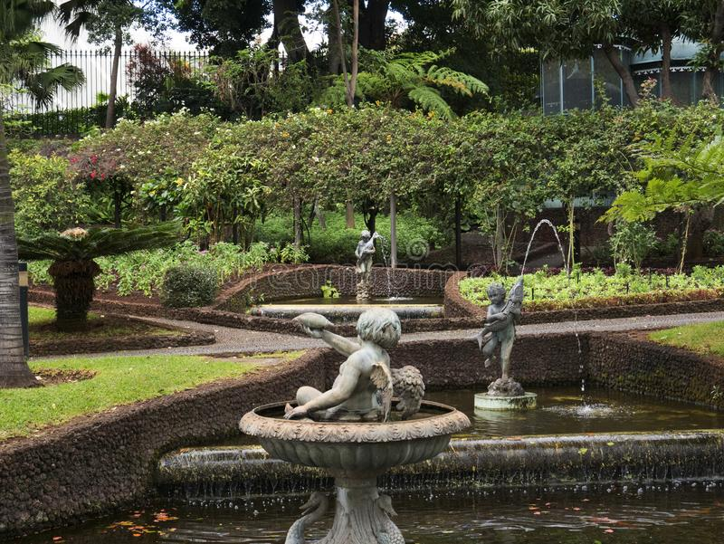 Garden of the Governors Palace on the island of Madeira Portugal stock photography