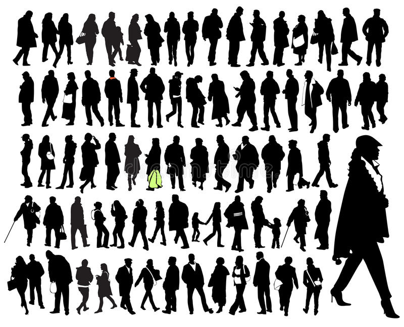 Download Just people stock vector. Image of small, group, tall - 9803432