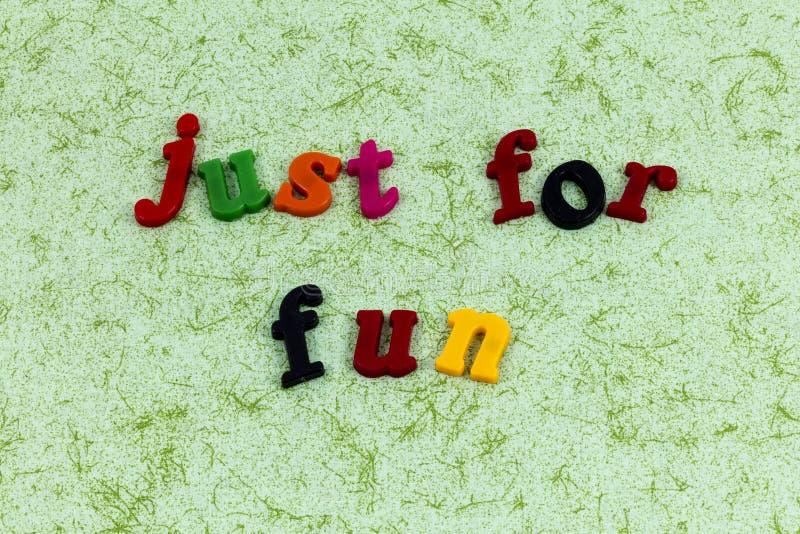 Just play fun smile laugh enjoy life love stock photo