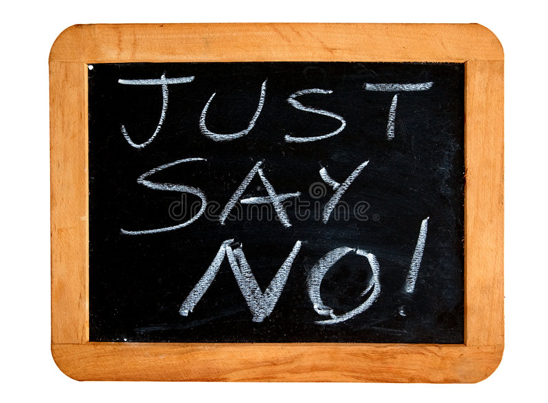 Download Just Say No Royalty Free Stock Photography - Image: 7691887