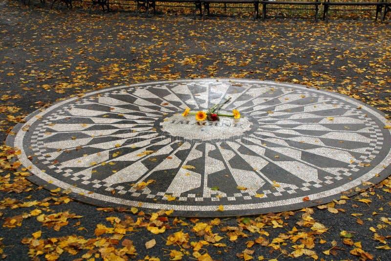 Strawberry Fields Monumnet to John Lennon royalty free stock image