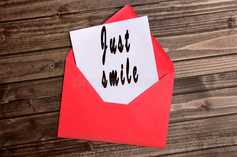 Just smile words royalty free stock photography