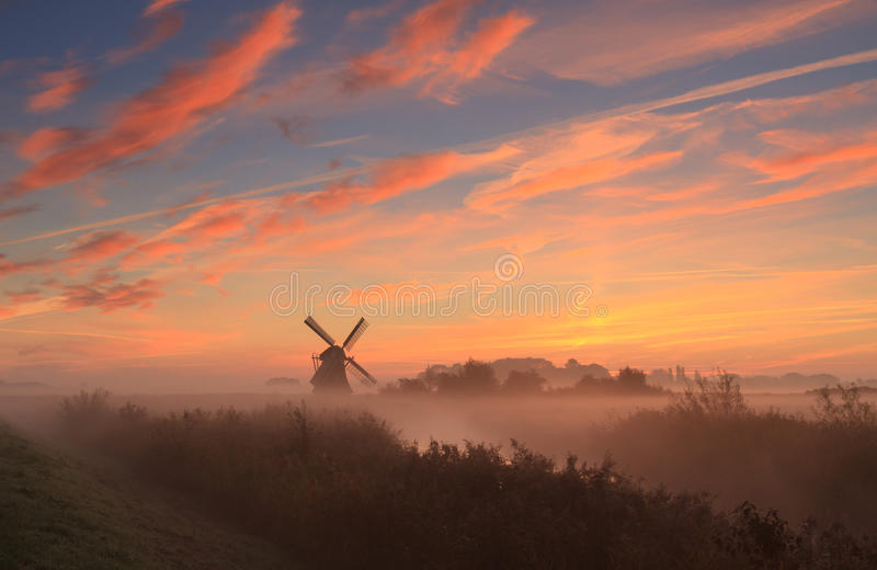 Just before sunrise stock photography
