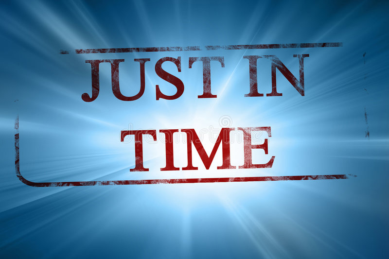 Just in time vector illustration